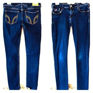 HOLLISTER SUPER SKINNY Jeans 29x31 Dark Wash